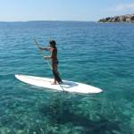 катание на доске по морю остров Чиово, Адриатическое море