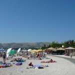 пляж на острове Чиово в Округе Горнем залив Салдун