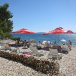 Белый Пляж на острове Чиово Хорватия